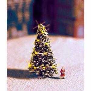 ホワイトクリスマスツリー(LED付き) :ノッホ 塗装済み完成品 N(1/160) 33910|sakatsu