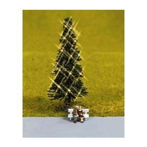 クリスマスツリー(LED付き)とベンチの老夫婦 :ノッホ 塗装済完成品 N(1/160) 33911|sakatsu