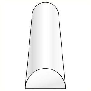 半円(半丸棒)  1.6 x 3.2 x 250 mm :プラストラクト プラ材 ノンスケール 90884|sakatsu