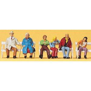 ベンチに座っているカップル :プライザー 塗装済完成品 HO(1/87) 10027|sakatsu