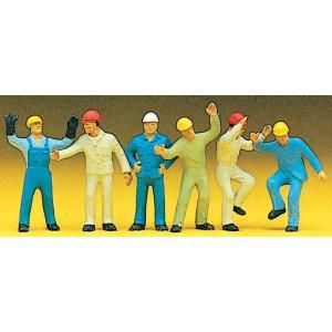 ハシゴを登る人を含む作業員 :プライザー 塗装済完成品 HO(1/87) 10105|sakatsu