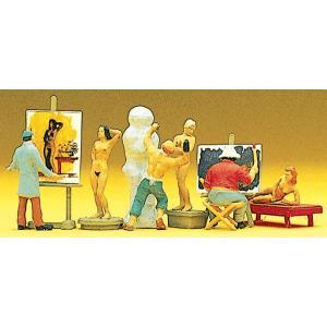画家、彫刻家 :プライザー 塗装済完成品 HO(1/87) 10106|sakatsu