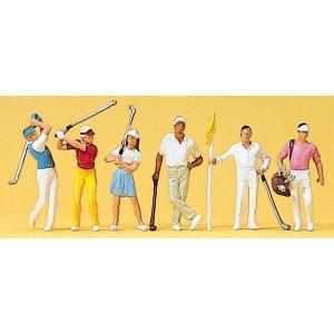 ゴルフをする人たち :プライザー 塗装済完成品 HO(1/87) 10231|sakatsu