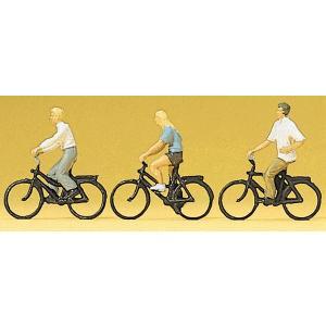 自転車に乗る人たち :プライザー 塗装済完成品 HO(1/87) 10336|sakatsu