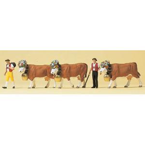牛飼いと牛 :プライザー 塗装済完成品 HO(1/87) 10404|sakatsu