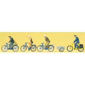 自転車に乗る人達 :プライザー 塗装済完成品 HO(1/87) 10507 sakatsu