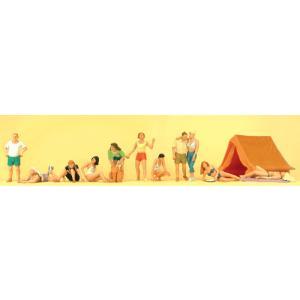 キャンプ場の人々 :プライザー 塗装済完成品 HO(1/87) 10538|sakatsu