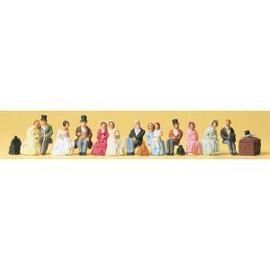 古い時代の腰掛ける旅行者 :プライザー 塗装済完成品 HO(1/87) 12045|sakatsu