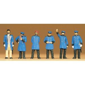 古い時代のプロイセン邦有鉄道職員 :プライザー 塗装済完成品 HO(1/87) 12130|sakatsu