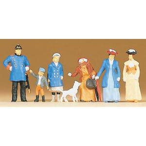 古い時代の警官と通行人 :プライザー 塗装済完成品 HO(1/87) 12131|sakatsu