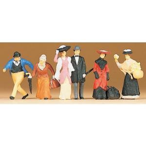 古い時代の通行人 :プライザー 塗装済完成品 HO(1/87) 12138|sakatsu