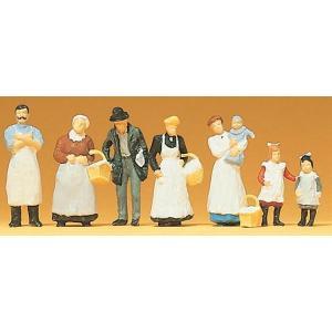 古い時代の食品店の人々 :プライザー 塗装済完成品 HO(1/87) 12193|sakatsu