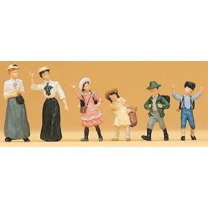 古い時代の婦人と子供たち :プライザー 塗装済完成品 HO(1/87) 12194 sakatsu