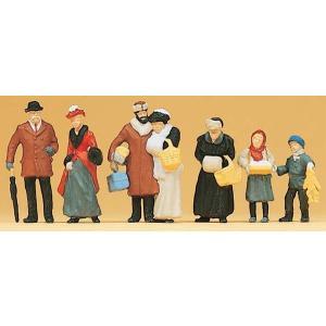 古い時代のクリスマスの人々 :プライザー 塗装済完成品 HO(1/87) 12195|sakatsu