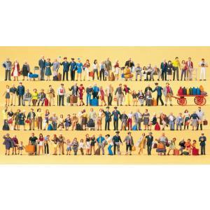 駅の人たち、鉄道職員、旅行者、乗客 100人 :プライザー 塗装済完成品 HO(1/87) 13000|sakatsu