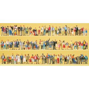 街の人たち、通行人、旅行者 100人 :プライザー 塗装済完成品 HO(1/87) 13002|sakatsu
