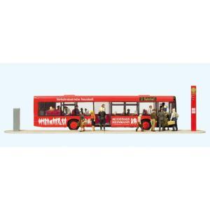 路線バスと乗客 29人 :プライザー 塗装済完成品 HO(1/87) 13009|sakatsu
