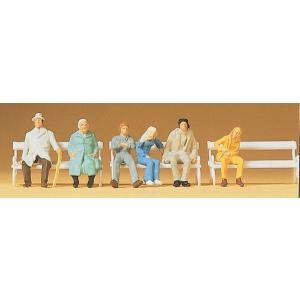 ベンチに腰掛けた人々 :プライザー 塗装済完成品 HO(1/87) 14004 sakatsu
