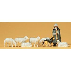 羊飼いと羊と犬 :プライザー 塗装済完成品 HO(1/87) 14160|sakatsu