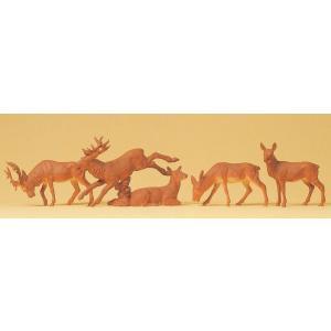 鹿5頭 :プライザー 塗装済完成品 HO(1/87) 14179 sakatsu