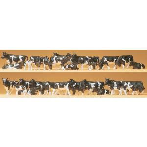 牛(白黒ホルスタイン種)30頭 :プライザー 塗装済完成品 HO(1/87) 14408|sakatsu