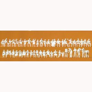 ビアガーデンの人々 47体 :プライザー 未塗装キット HO(1/87) 16356|sakatsu