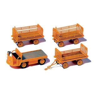 エポック4時代の電動貨物トレーラー(DB ドイツ連邦鉄道) :プライザー 未塗装キット HO(1/87) 17120|sakatsu
