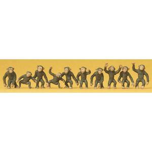 猿 10匹 :プライザー 塗装済完成品 HO(1/87) 20388|sakatsu