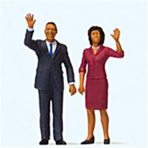 オバマ大統領とファーストレディ :プライザー 塗装済完成品 HO(1/87) 28144|sakatsu