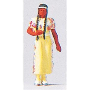 インディアンの女性 :プライザー 塗装済完成品 HO(1/87) 29040|sakatsu