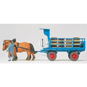 ビールを運ぶ馬車 :プライザー 塗装済完成品 HO(1/87) 30445|sakatsu