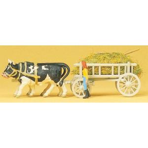 干草を運ぶ牛車 :プライザー 塗装済完成品 HO(1/87) 30472|sakatsu