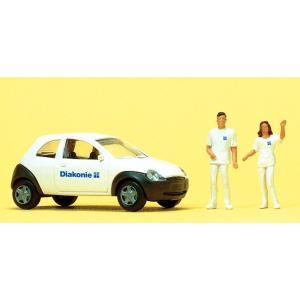 社会福祉サービス職員 自動車付き :プライザー 塗装済完成品 HO(1/87) 33245|sakatsu