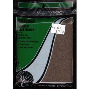石系素材 バラスト(砂利)中 こげ茶色 :ウッドランド 素材 ノンスケール 78|sakatsu