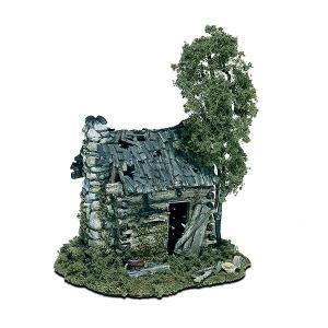 丸太小屋の廃屋 :ウッドランド 未塗装キット HO(1/87) M101|sakatsu