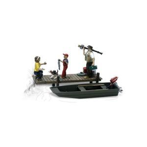 釣りをする家族 ボート付 :ウッドランド 塗装済完成品 O(1/48) A2756 sakatsu