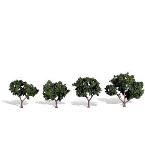 広葉樹 5〜7.6cm 4本 :ウッドランド 完成品 ノンスケール 3505|sakatsu