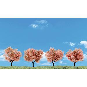 桜の木 5〜7.6cm 4本入り :ウッドランド 塗装済完成品 ノンスケール 3593|sakatsu