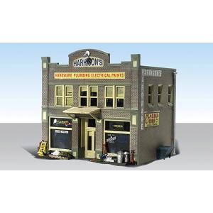 ハリソン金物店【LED付き】 :ウッドランド 塗装済完成品 HO(1/87) 5022|sakatsu