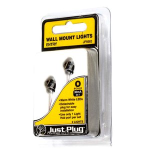 LED付き街路灯 壁用外灯 クラシック角形タイプ Oサイズ 2個セット JP5663 :ウッドランド 塗装済み完成品 O(1/48) Just Plug対応|sakatsu
