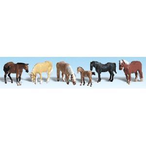 農場の馬 :ウッドランド 塗装済完成品 HO(1/87) 1862|sakatsu