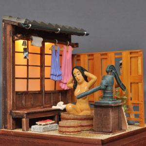 昭和色模様 「行水の女(電飾バージョン)」 :山本高樹 塗装済完成品 1/25 sakatsu