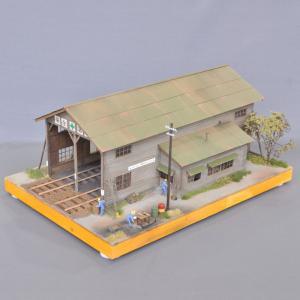 木造複線車庫 :宮下洋一 塗装済完成品 16.5mmゲージ 1/80 sakatsu