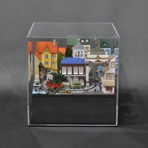 ミニミニレイアウト#1 「ヨーロッパの街角」 :石川宜明 塗装済完成品 1/150サイズ|sakatsu