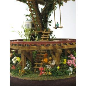 ツリーハウスライン#10 「辛子色の電車と緑のツリーハウス」 :石川宜明 塗装済完成品 1/150サイズ sakatsu 04