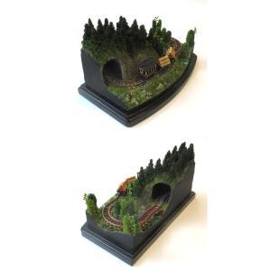 ダイソーケースレイアウト#7 「ミニ森林鉄道」 :石川宜明 塗装済完成品 1/150サイズ sakatsu 02