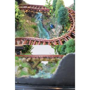 ダイソーケースレイアウト#7 「ミニ森林鉄道」 :石川宜明 塗装済完成品 1/150サイズ sakatsu 04