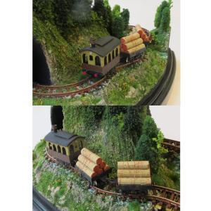 ダイソーケースレイアウト#7 「ミニ森林鉄道」 :石川宜明 塗装済完成品 1/150サイズ sakatsu 05