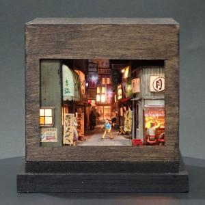 90ミリキューブミニチュア 「飲兵衛横丁・特盛3」 :太郎 塗装済完成品 ノンスケール|sakatsu