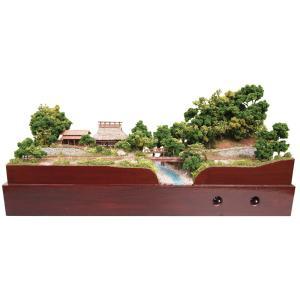農家と牛舎と地方鉄道 :山尾比呂士 塗装済完成品 1/150サイズ|sakatsu